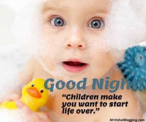 good night cute baby images