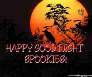good night horror images