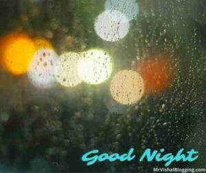 rainy good night images