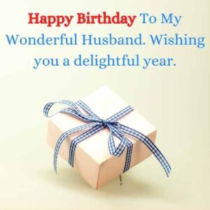 happy bday message to husband