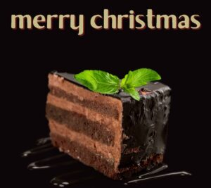Merry Christmas images with cake