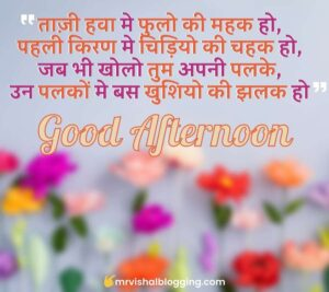 good afternoon SMS in Hindi with images