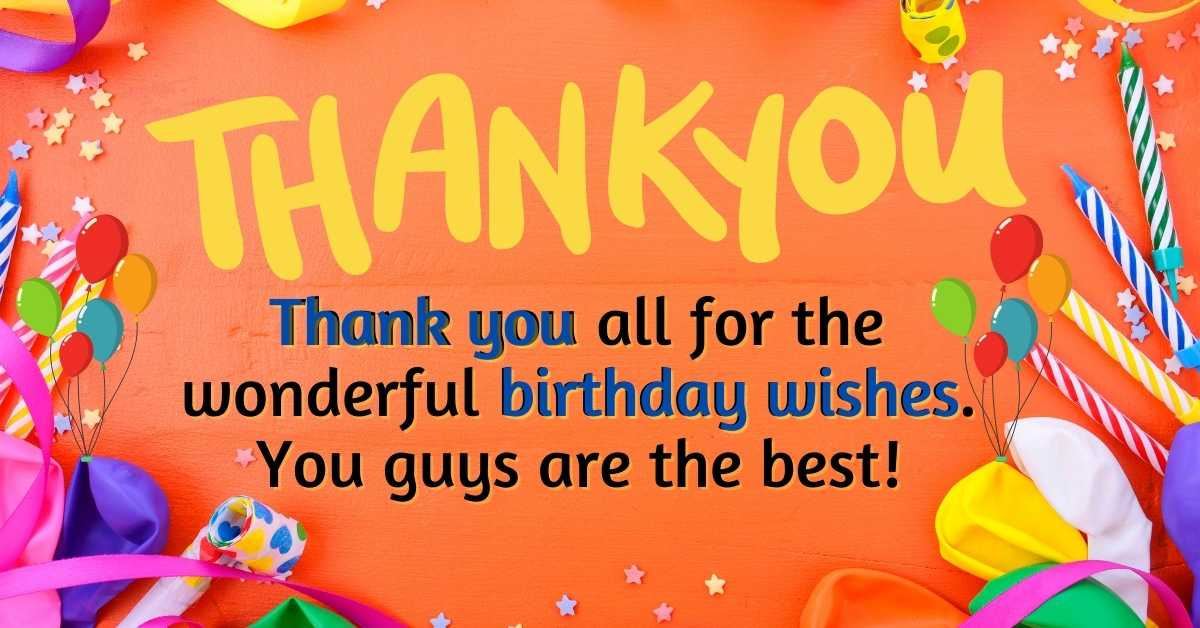 Birthday Thank You Images For Free Download