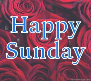happy sunday images with flowers