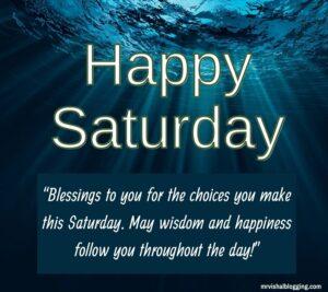 Happy Saturday Blessings Photos