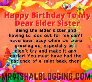happy birthday my elder sister images