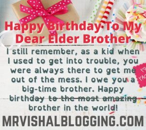 happy birthday big brother quotes images