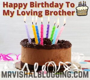 happy birthday cake images with quotes for brother