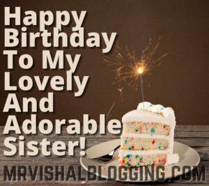 happy birthday my sweet sister cake pics