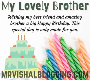 happy birthday brother images with candles quotes and cake