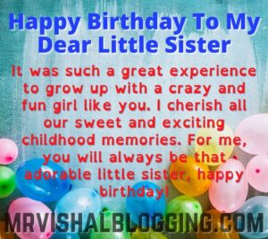 happy birthday little sister images and quotes