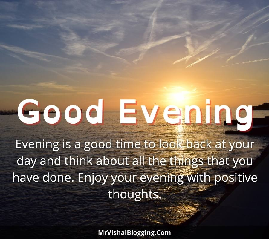 good evening photos with quotes