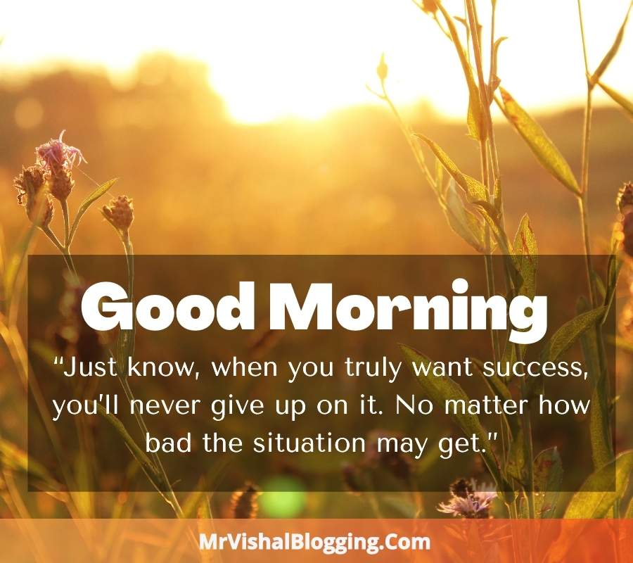 Good Morning HD Photos With Positive Words