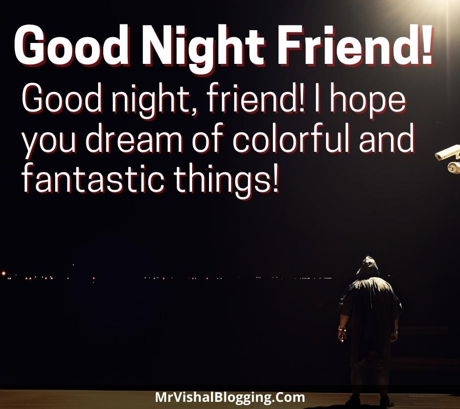 friendship good night messages for friends with pictures