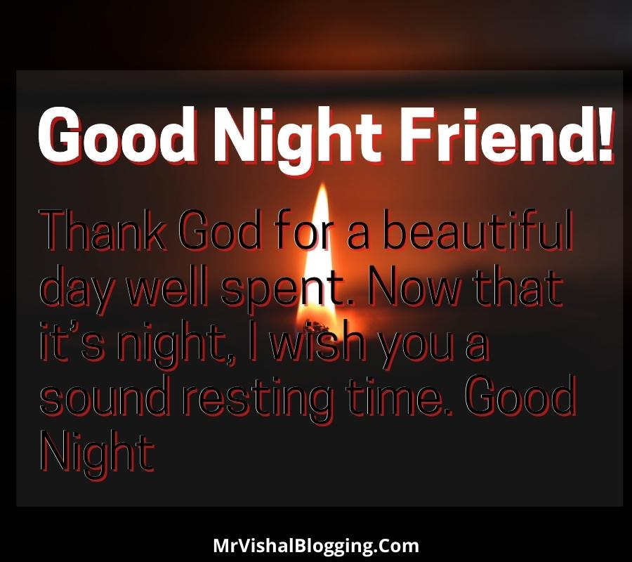 spiritual good night messages for friends with pictures
