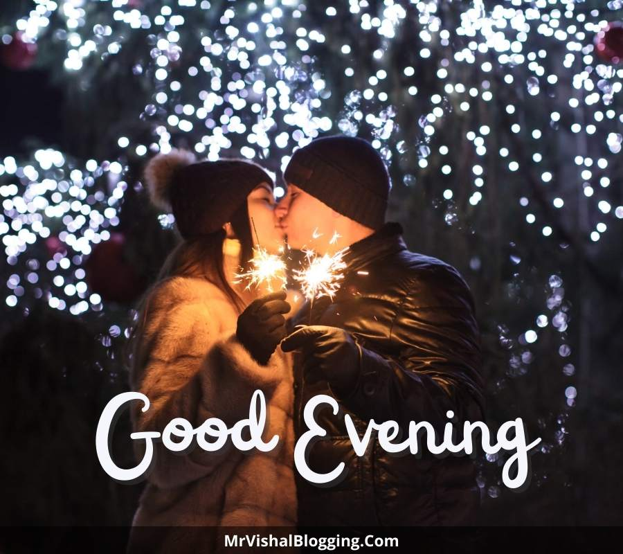 good evening kiss images