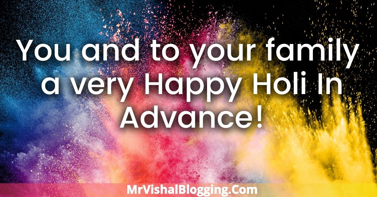 Happy Holi In Advance HD Images Download With Wishes