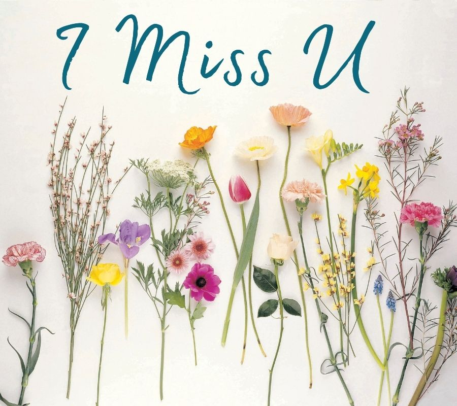 I Miss You HD Pics with Flowers Download Free For Whatsapp