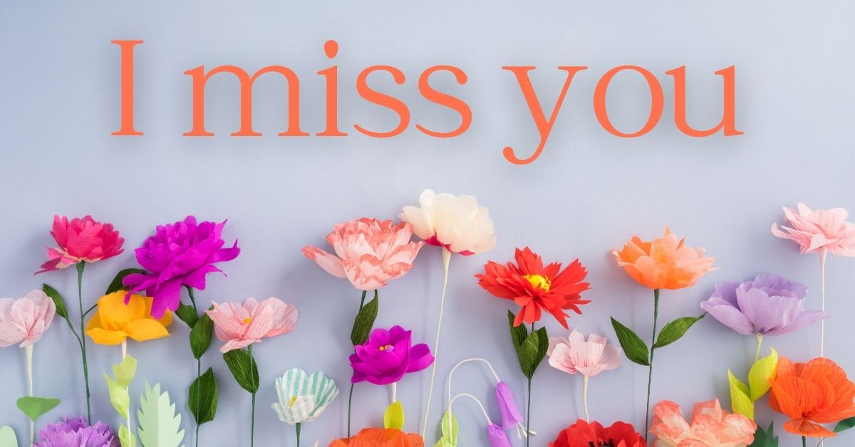 I Miss You HD Images with Flowers Download Free For Whatsapp