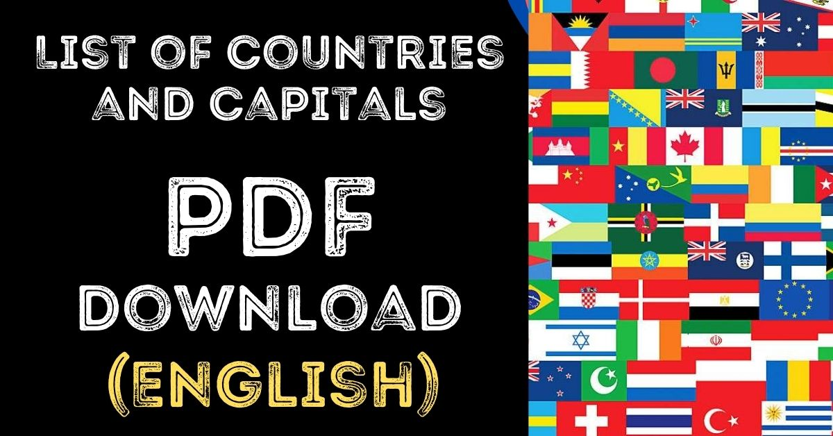 List of Countries and Capitals PDF Free Download